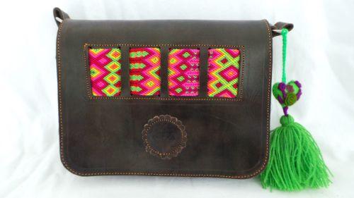Mexican Woven Bag - Dark Brown (9)