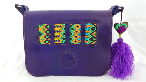 Mexican Woven Bag - Purple (11)