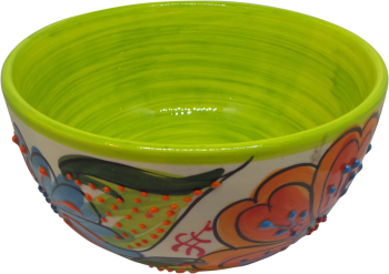 14cm Cereal Bowl  - Verano Green