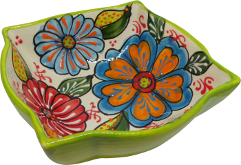 18cm Ornate Bowl  - Verano Green