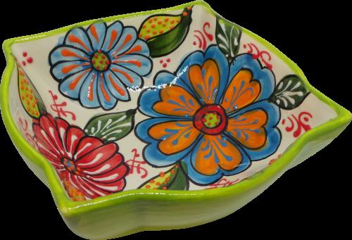 18cm Ornate Bowl  - Verano Green