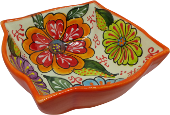 18cm Ornate Bowl  - Verano Orange