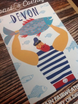 Captain Fairweather Devon Tea Towel