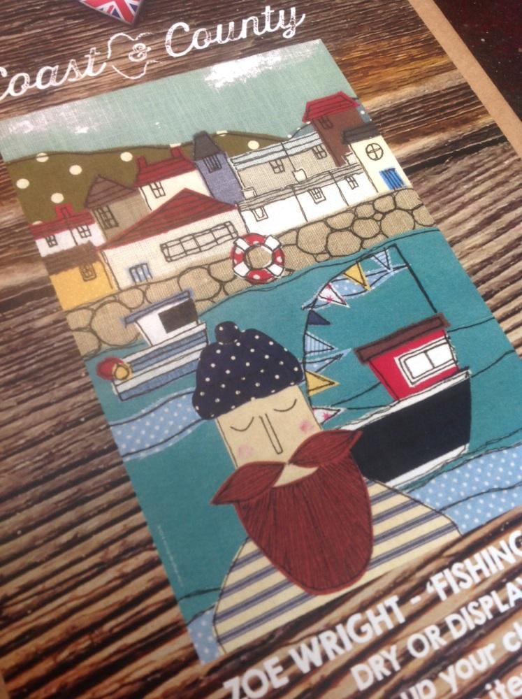 Fishing Boat Tea Towel