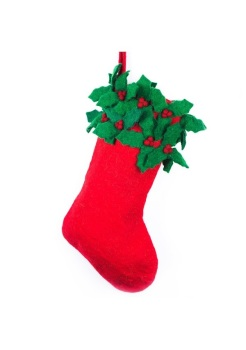 Felt Holly Stocking