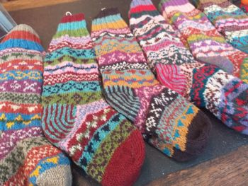 Handknitted Fairisle Socks
