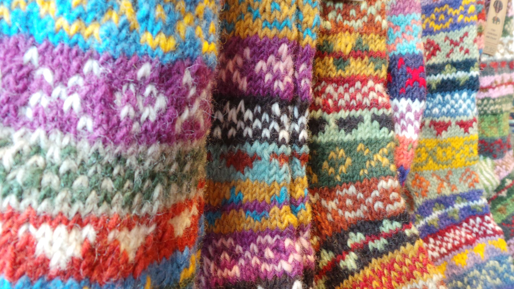 nepal knitted socks