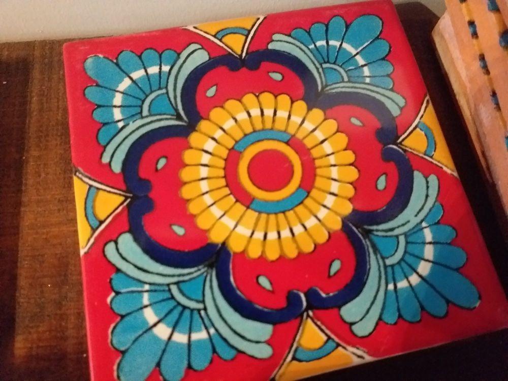 Talavera Tile Coaster - 3