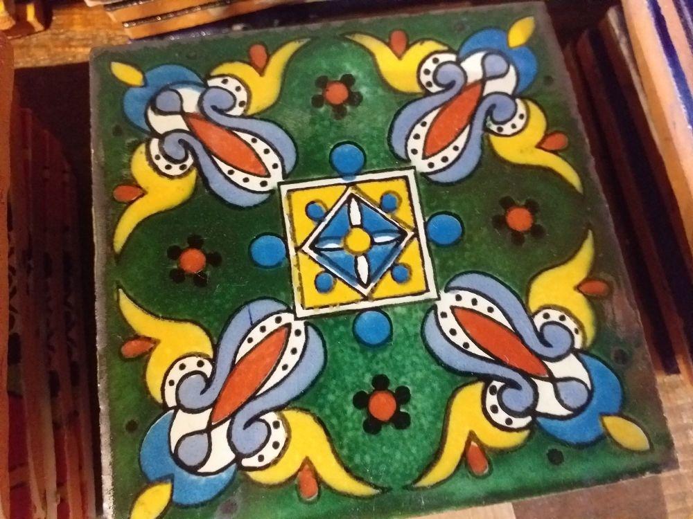 Talavera Tile Coaster - 7