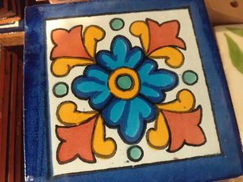 Talavera Tile Coaster - 8