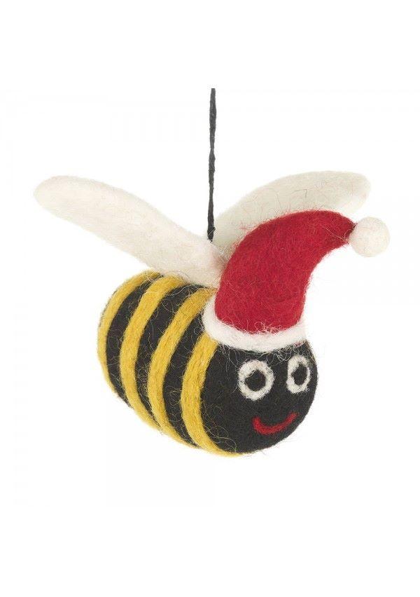 Felt Bee with Santa Hat