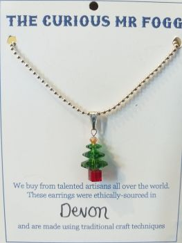 Swarovski Crystal Christmas Tree Necklace