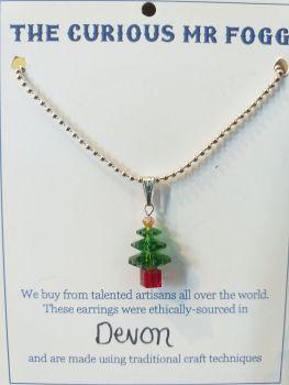 Swarovski Crystal Christmas Tree Necklace