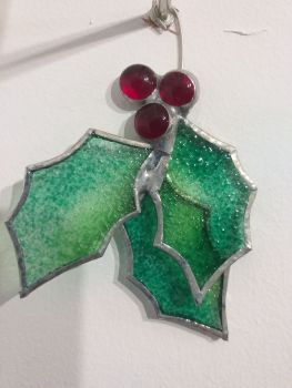 Locally-Made Glass Decoration - Holly