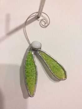 Locally-Made Glass Decoration - Mistletoe