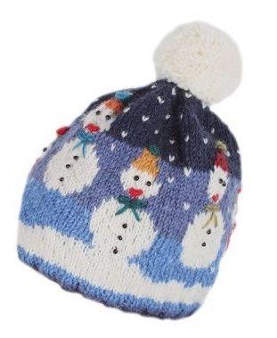 Snowman Bobble Beanie Hat