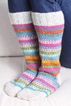 Candy Stripe Knitted Long Socks