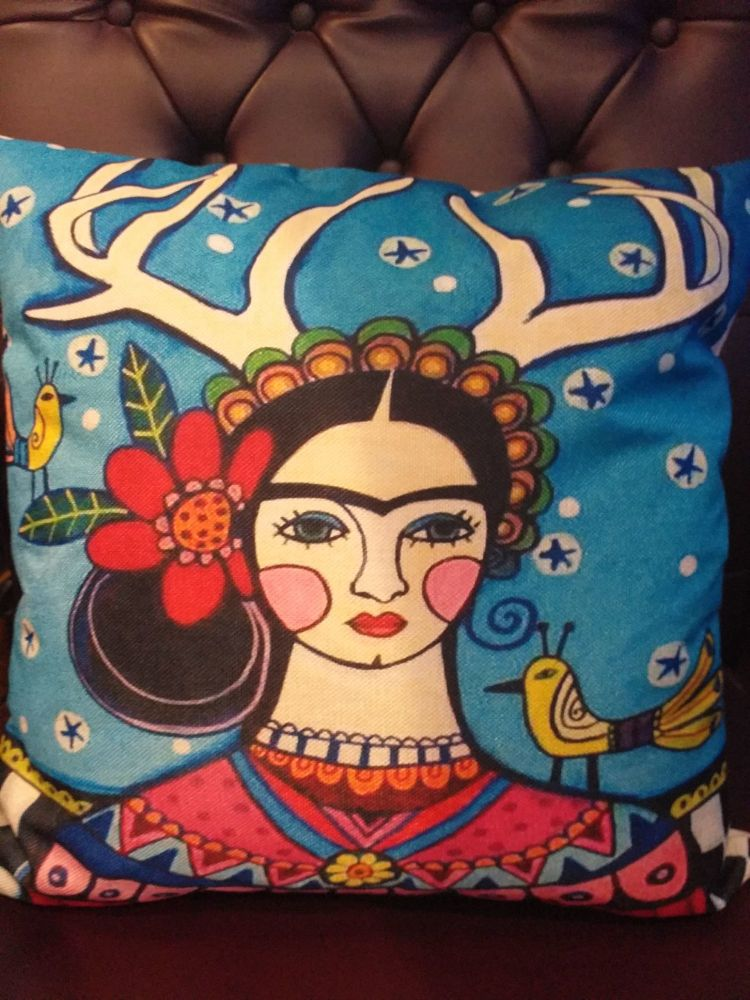 Printed Woven Cushion - Frida 1