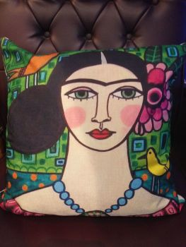Printed Woven Cushion - Frida 4