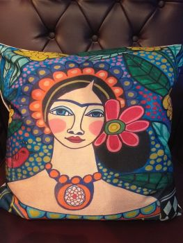Printed Woven Cushion - Frida 5