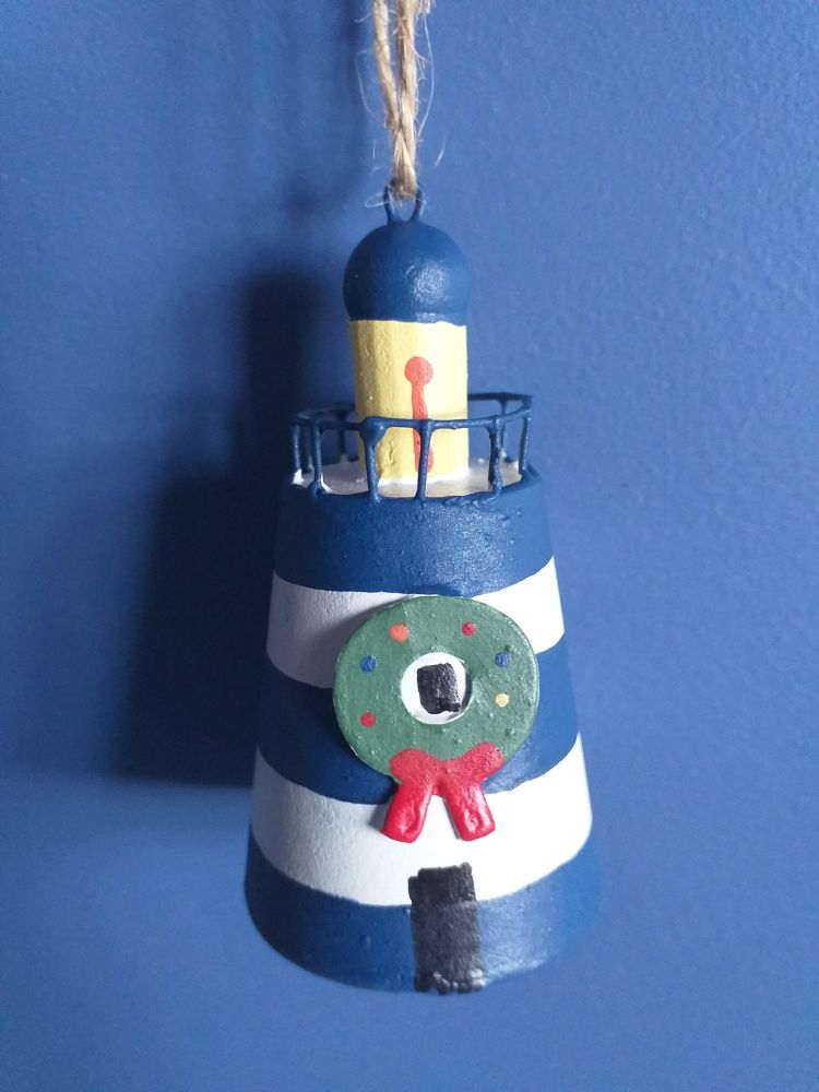 Metal Festive Lighthouse