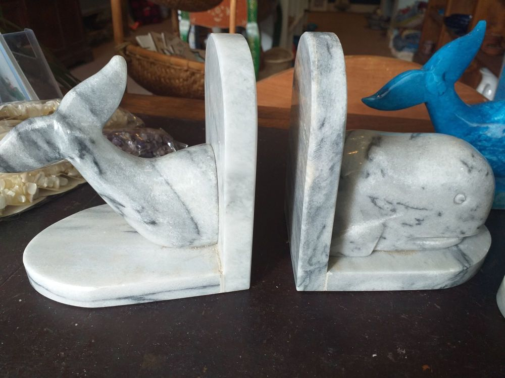 Whale Bookends - Grey
