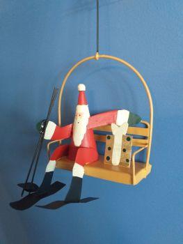 Metal Ski Lift Santa
