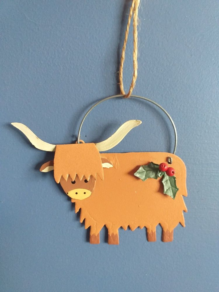 Metal Highland Cow