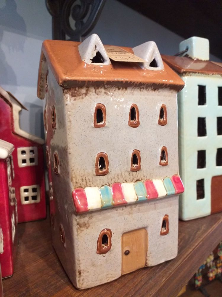 Ceramic Tealight House - Shop Front