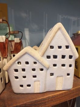 Ceramic Tealight House - Double Cottage