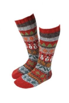 Christmas Knitted Long Socks