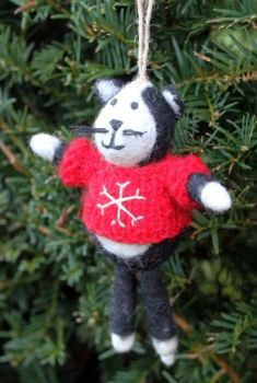 Felt Cat with Jumper