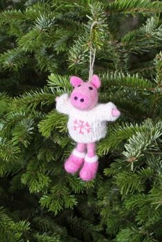 Felt Pig with Jumper