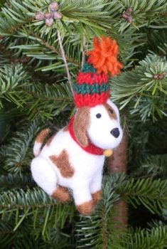 Felt Puppy with Hat