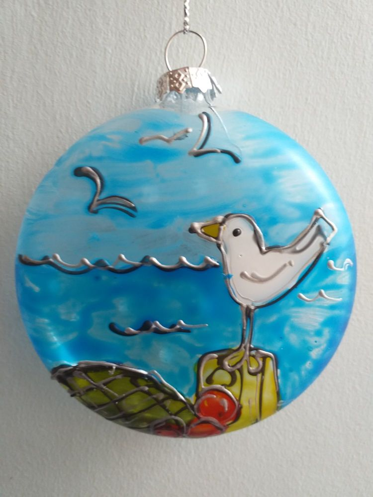 Handmade Glass Ilfracombe Bauble - 2