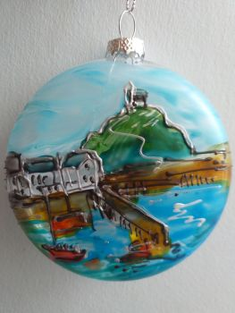 Handmade Glass Ilfracombe Bauble - 3
