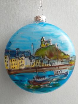 Handmade Glass Ilfracombe Bauble - 4