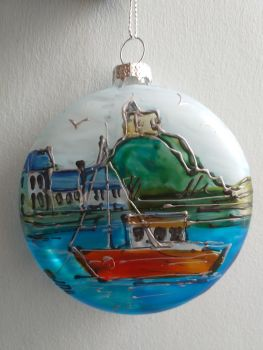 Handmade Glass Ilfracombe Bauble - 5