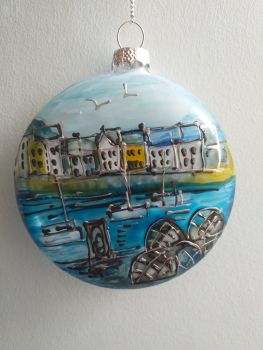 Handmade Glass Ilfracombe Bauble - 8