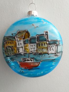 Handmade Glass Ilfracombe Bauble - 9
