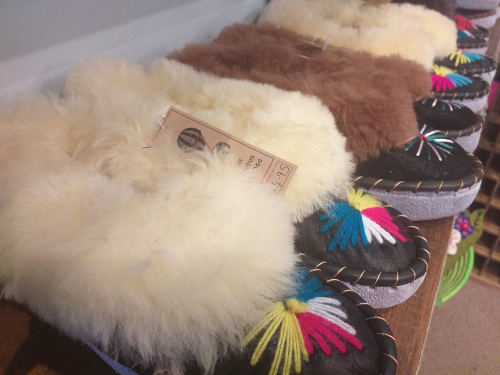 Sheepskin and Leather Slippers - Sizes 4-9