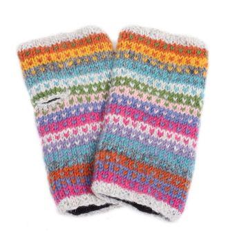 Candy Stripe Handwarmers