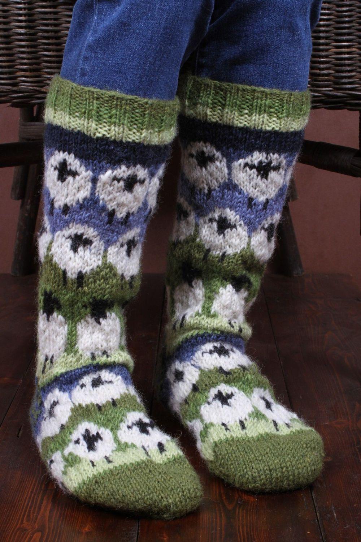 Sheep Woolly Long Socks