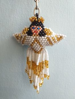 Beaded Keyring - Angel