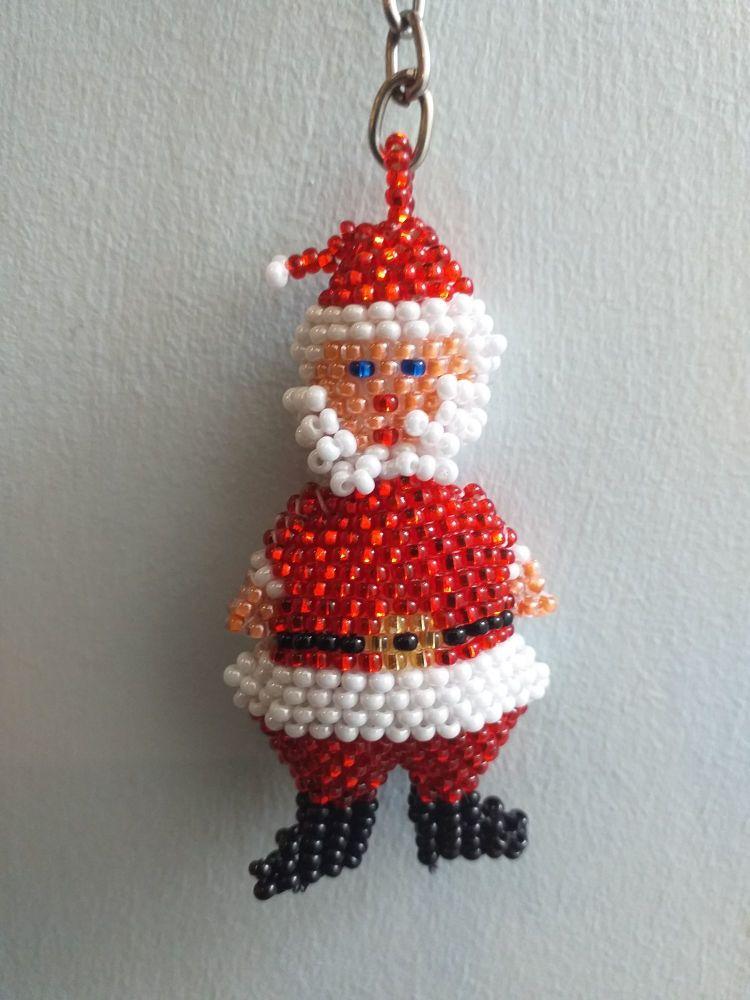 Beaded Keyring - Santa