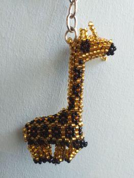Beaded Keyring - Giraffe