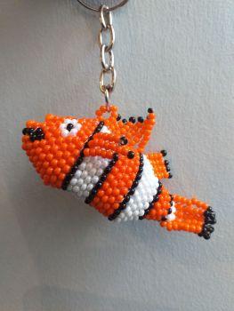 Beaded Keyring - Nemo Clownfish