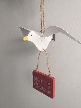 Metal Christmas Seagull