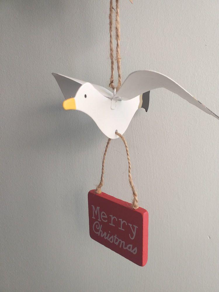 Metal Christmas Seagull