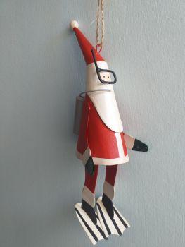 Metal Scuba Diving Santa